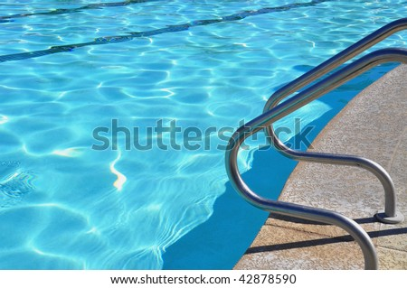 Swimming Pool, room for your text - stock photo