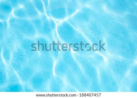 Swimming pool water - stock photo
