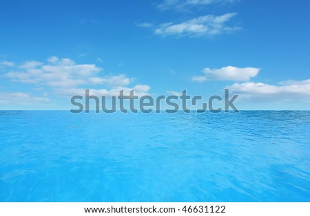 Swimming pool with sky - stock photo