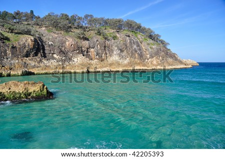 Swimming, snorkeling and diving area - stock photo