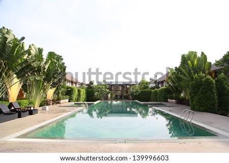 Swimming Space Tourist Dream - stock photo