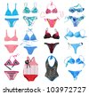 swimsuit collection - stock photo