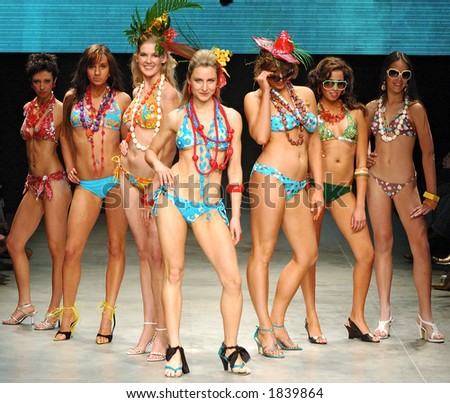 Swimwear parade - stock photo
