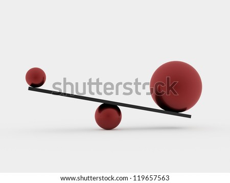 Swing ith spheres isolated - stock photo