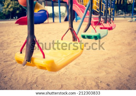 Swing Set Background,Filters Look - stock photo