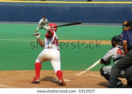 Swinging Batter - stock photo