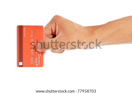 Swiping Your Credit Card - stock photo