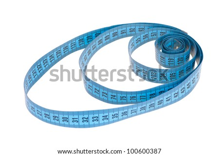 swirl tapemeasure isolated on white background - stock photo