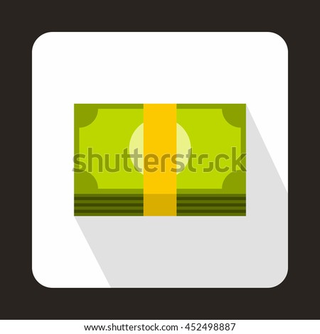 Swiss Franc banknote icon in flat style on a white background - stock photo