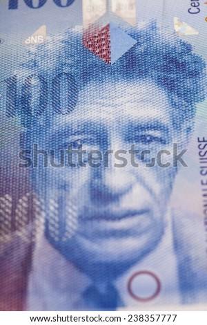 Swiss Franc note - stock photo
