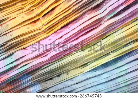 Swiss francs macro paper banknotes - stock photo