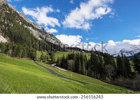 Swiss Jungfrau Region - stock photo