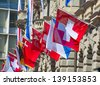 Swiss National Day on August 1 in Zurich, Switzerland. - stock photo