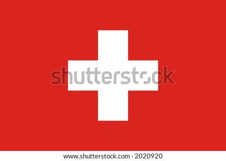 Swiss national flag - stock photo