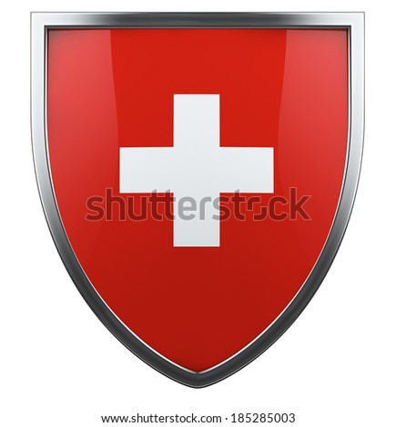 Swiss national flag design element. - stock photo