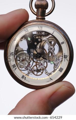 Swiss Pocket Watch - stock photo