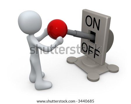 Switch Turned On - stock photo