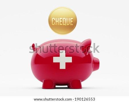 Switzerland High Resolution Cheque Concept - stock photo