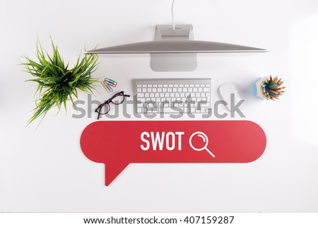 SWOT Search Find Web Online Technology Internet Website Concept - stock photo