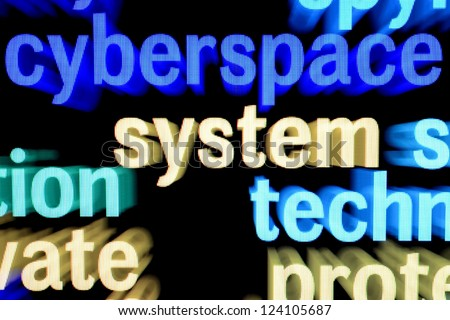 Syberspace system - stock photo