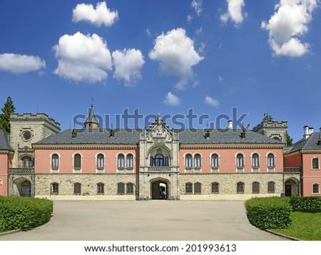 Sychrov chateau, Czech republic. - stock photo