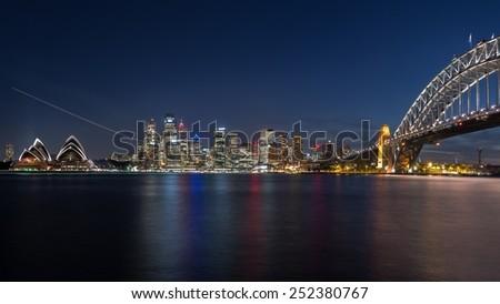 SYDNEY, AUSTRALIA  April 02, 2014: Sydney's opera house and the CBD seen from Bradfield Park - stock photo