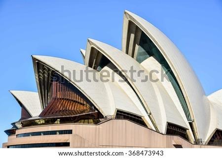 Sydney, Australia - AUGUST 12, 2015: The Sydney Opera House, an Astonishing Architectural Work of the 20th Century  - stock photo