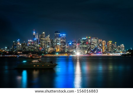 sydney australia city central business district - stock photo