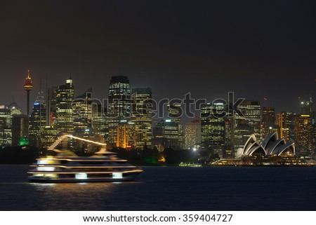 Sydney,Australia on 4th Jan 2016:The Sydney Opera House was made a UNESCO World Heritage Site in June 2007 and is Australia most famous landmark - stock photo