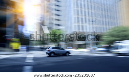 Sydney city traffic, busy road - stock photo