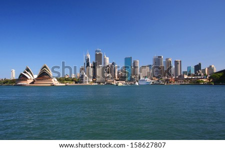SYDNEY - February 5: Circular Quay in Sydney, Australia on September 5, 2008. Sydney is the capital of New South Wales and the most populated city in Australia. - stock photo
