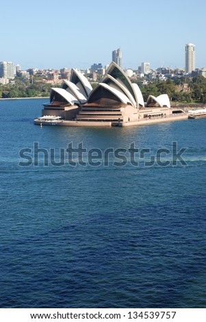 SYDNEY - FEBRUARY 19: Sydney Opera House on February 19, 2013 in Sydney. The Sydney Opera House is a world-class performing arts centre, which was included in the UNESCO's World Heritage List in 2007 - stock photo