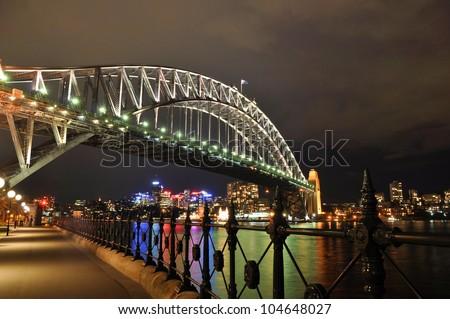 Sydney Harbor Bridge and Central Business District - stock photo