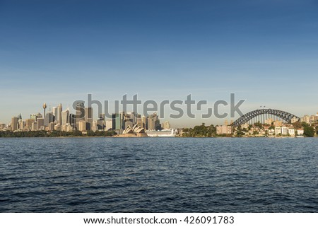 Sydney Harbor Sunrise, Australia - stock photo