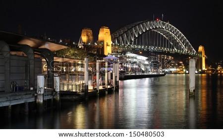 Sydney Harbour Bridge from Circular Quay - stock photo