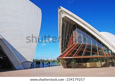 SYDNEY - JUNE 13 2010: Sydney Opera House is multi-venue performing art centre in Sydney, New South Wales, Australia. - stock photo