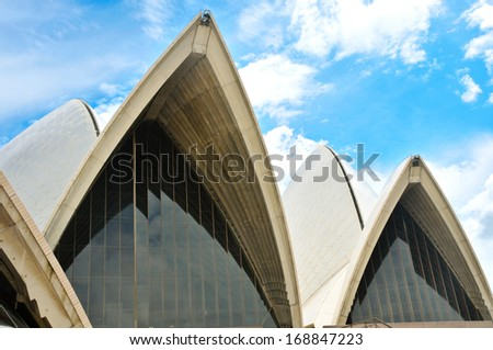 SYDNEY - MARCH 6: The Sydney Opera House is among the busiest performing arts centres in the world, hosting over 1,500 performances each year attended by some 1.2 million people. - stock photo