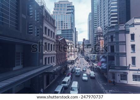 Sydney's urban construction and transportation - stock photo