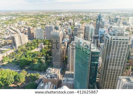 Sydney skyline - New South Wales. - stock photo