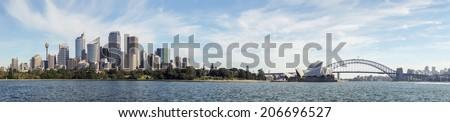 Sydney Skyline Panorama - stock photo