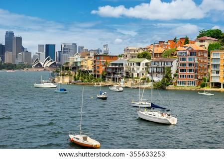 Sydney suburb on the north shore - stock photo