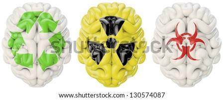 Symbol brains - stock photo