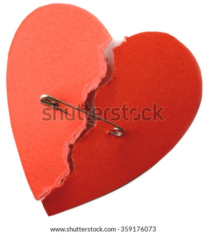 symbol for repaired heart for love or health  - stock photo