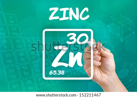 Symbol for the chemical element zinc - stock photo
