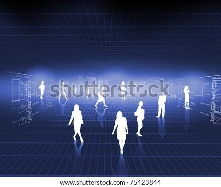 Symbol of a successful business and business activity. Illstratsiya - stock photo