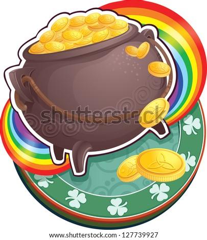 symbol of St.Patrick's Day. - stock photo