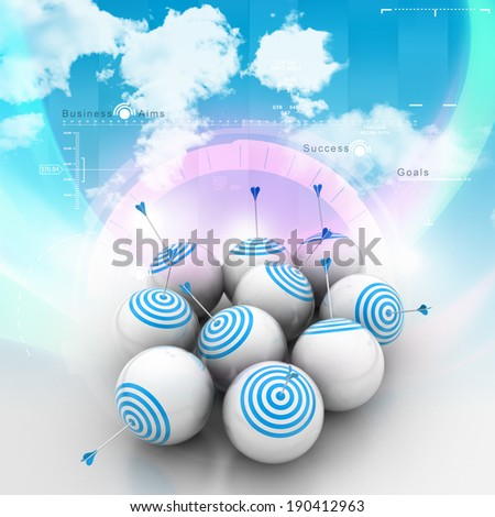 symbol of targeted marketing - stock photo