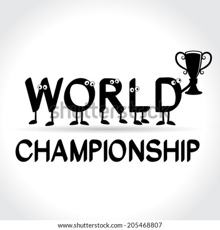 symbol of world championship - stock photo