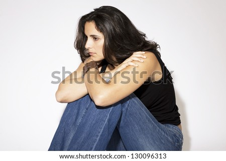 symbol picture for loneliness - stock photo