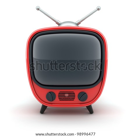 """Symbol """"TV"""" on a white background (done in3d) - stock photo"""